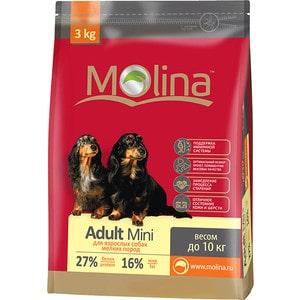 корм дл собак molina adult lamb Сухой корм Molina Adult Mini с птицей для взрослых собак мелких пород весом до 10кг 3кг (650937)