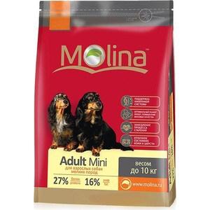 корм дл собак molina adult lamb Сухой корм Molina Adult Mini с птицей для взрослых собак мелких пород весом до 10кг 7,5кг (650944)