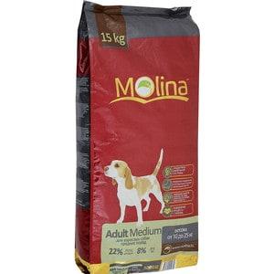 корм дл собак molina adult lamb Сухой корм Molina Adult Medium с птицей для взрослых собак средних пород весом от 10 до 25кг 15кг (650975)