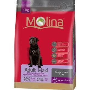 корм дл собак molina adult lamb Сухой корм Molina Adult Maxi с птицей для взрослых собак крупных и гигантских пород весом более 25кг 3кг (650982)