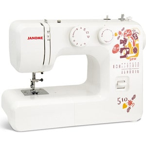 Швейная машина Janome Sew dream 510 cut and sew letter embroidered applique tee