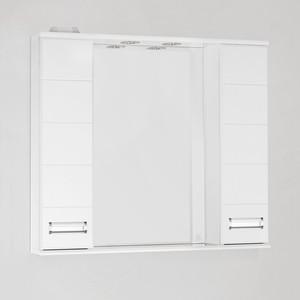 Зеркальный шкаф Style line Ирис 90 со светом (4603720984894) угол желоба внутренний grand line 125 90° коричневый металлический