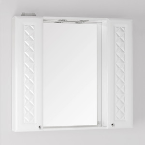 Зеркальный шкаф Style line Канна 90 со светом (2000949015231) угол желоба внутренний grand line 125 90° коричневый металлический