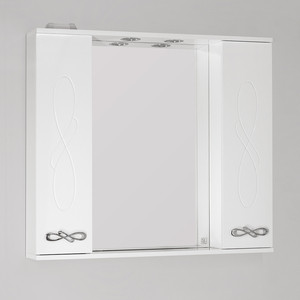 Зеркальный шкаф Style line Венеция 90 со светом (2000949061993) зеркальный шкаф style line ориноко 60 со светом 2000949083964