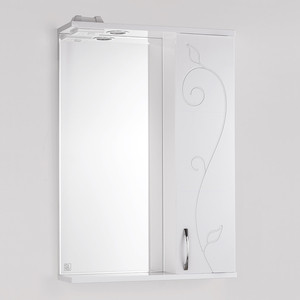 Зеркальный шкаф Style line Панда 55 Фьюжн со светом (4603720984542) зеркальный шкаф style line панда волна 60 со светом 2000949039916