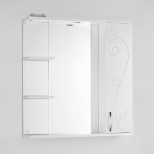 Зеркальный шкаф Style line Панда 75 Фьюжн со светом (2000949054667) зеркальный шкаф style line лира 70 со светом 2000941440017