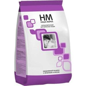 Фотография товара сухой корм Наша Марка НМ Ежедневный рацион с ягнёнком и рисом гипоаллергенный для взрослых кошек 15кг (НМ-24) (685627)