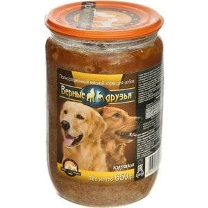 Консервы Верные друзья Курица для собак 650г цены онлайн