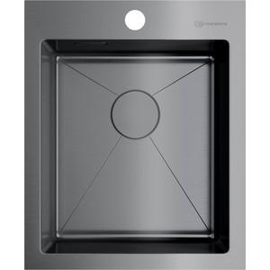 Кухонная мойка Omoikiri Akisame 41-GM, 410х510, вороненая сталь (4973094) кухонная мойка omoikiri akisame 78 gm l 4973099