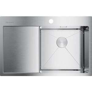 купить Кухонная мойка Omoikiri Akisame 78-IN-R, 780x510, нержавеющая сталь (4973061) по цене 29888 рублей