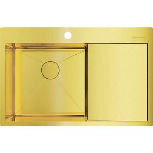 Кухонная мойка Omoikiri Akisame 78-LG-L, 780x510, светлое золото (4973085)