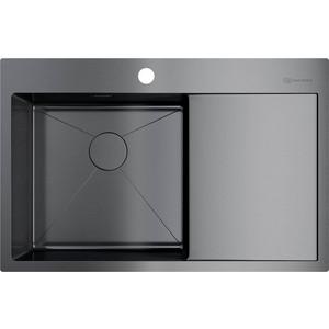 Кухонная мойка Omoikiri Akisame 78-GM-L, 780х510, вороненая сталь (4973099) цена 2017