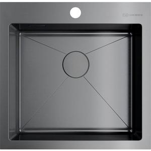 Кухонная мойка Omoikiri Akisame 51-GM, 510х510, вороненая сталь (4973440) кухонная мойка вороненая сталь omoikiri ashino 49 gm