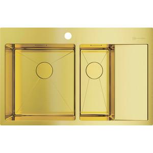 Кухонная мойка Omoikiri Akisame 78-2-LG-L, 780x510, светлое золото (4973087)