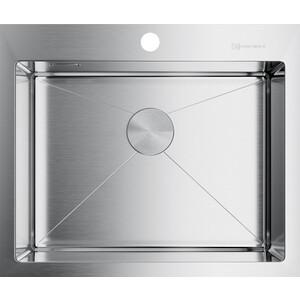 купить Кухонная мойка Omoikiri Akisame 59-IN, 590х510, нержавеющая сталь (4973055) по цене 27888 рублей