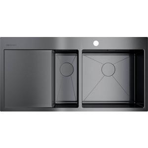 Кухонная мойка Omoikiri Akisame 100-2-GM-R, 1000x510, вороненая сталь (4973104) кухонная мойка вороненая сталь omoikiri ashino 49 gm