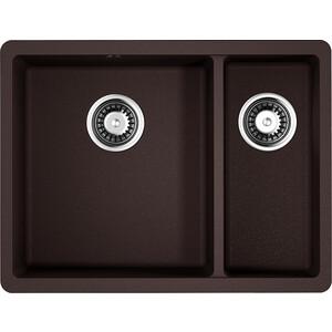 Кухонная мойка Omoikiri Kata 55-2-U-DC, 540х420, темный шоколад (4993388) цены онлайн