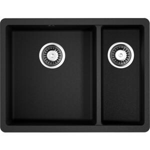 цены Кухонная мойка Omoikiri Kata 55-2-U-BL, 540х420, черный (4993389)