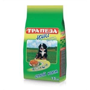 Купить сухой корм Трапеза Юни с мясом для щенков и молодых собак 13кг (29650) (687314) в Москве, в Спб и в России