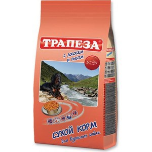 Купить сухой корм Трапеза с лососем и рисом для взрослых собак 13кг (687320) в Москве, в Спб и в России