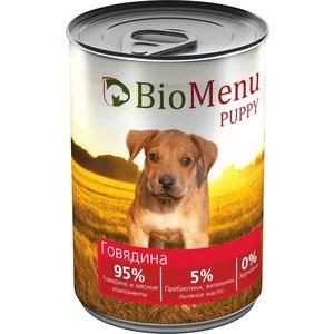 Консервы BioMenu Puppy Говядина 95% говядина и мясные компоненты для щенков 410г 95