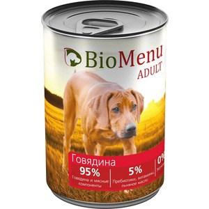 Консервы BioMenu Adult Говядина 95% говядина и мясные компоненты для собак 410г