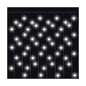 Светодиодный занавес влагозащищенный Odeon PLVC-2*2M-20-500LED-W v1 w 2m pvc