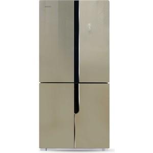 Холодильник Ginzzu NFK-500 стекло шампань