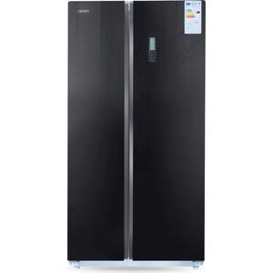 Холодильник Ginzzu NFK-580 черное стекло