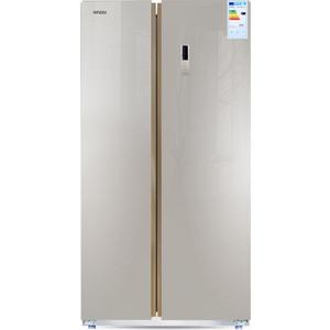 Холодильник Ginzzu NFK-580 стекло шампань