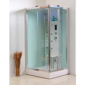 Душевая кабина IDDIS Mirro 100x100x220 гидромассажная с парогенератором (M80S101i85) смеситель для ванны iddis mirro с аксессуарами mirsb00i02
