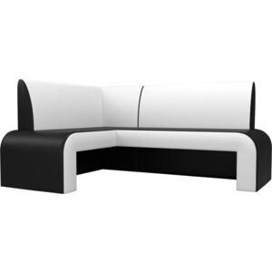 Кухонный диван АртМебель Кармен эко-кожа черно/белый левый кухонный диван артмебель кармен эко кожа черный белый правый