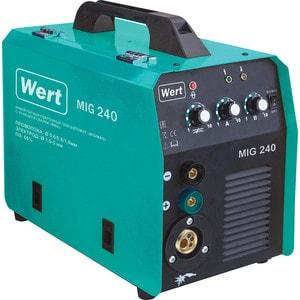 Инверторный сварочный полуавтомат Wert MIG 240 инверторный сварочный полуавтомат sturm aw97pa120