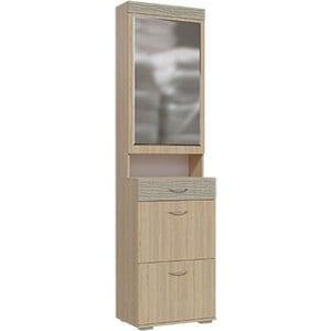 Прихожая Гранд Кволити Квинта 2-3501 Туя/холс серый шкаф с зеркалом