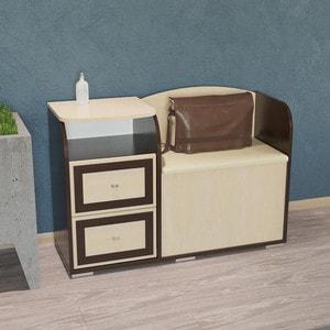 Диван с тумбой Гранд Кволити Домовой 2-40 венге/клен модуль для гардероба диван ру дели 2 60 240 венге