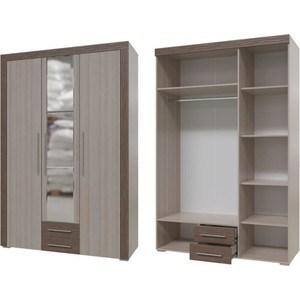 Шкаф распашной 3хдверный с ящиками Гранд Кволити Азалия 4-4805Т Ясень шимо светлый/ясень темный