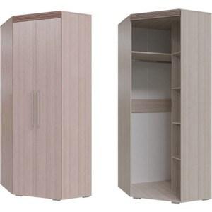 Шкаф угловой 2х дверный Гранд Кволити Азалия 4-4808 ясень шимо светлый/ясень темный туалетный столик мст сальвия модуль 4 ясень шимо темный светлый