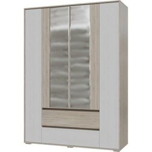 Шкаф 4-х дверный с ящиками Гранд Кволити Мальта 4-4811М дуб сонома/рамух белый шкаф купе угловой диван ру байкал 45 7 дуб сонома