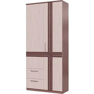 Шкаф 2х дверный с ящиками Гранд Кволити ПРЕЗЕНТ 4-4819 Бодега темный/светлый стенка гранд кволити кубика 6 568 бодега светлый темый