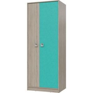 Шкаф для одежды Гранд Кволити СИТИ 6-9411 Дуб сонома/Аква
