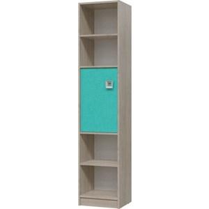 Шкаф стеллаж с дверкой Гранд Кволити СИТИ 6-9413 Дуб сонома/Аква