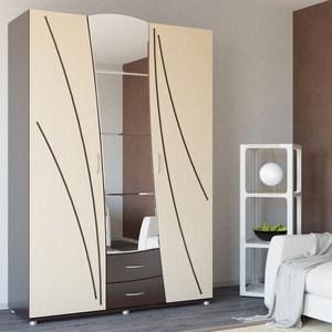 Шкаф для одежды с ящиками Гранд Кволити ТАНГО 4-3801 Венге/береза