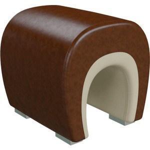 Банкетка Гранд Кволити Подкова 6-5106 коричневый кожзам