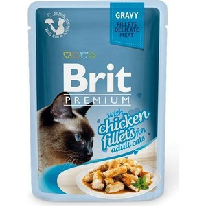 Паучи Brit Premium GRAVY with Chicken Fillets for Adult Cats кусочки в соусе с куриным филе для взрослых кошек 85г (518524) 23 inch green mahogany ukulele hawaiian guitar uke for beginner adult with bag strap tuner strings picks