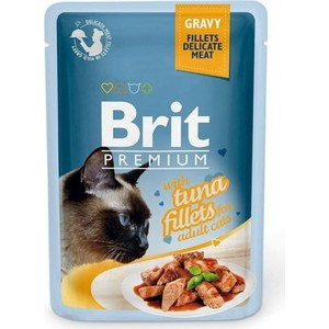 Паучи Brit Premium GRAVY with Tuna Fillets for Adult Cats кусочки в соусе с филе тунца для взрослых кошек 85г (518548) 23 inch green mahogany ukulele hawaiian guitar uke for beginner adult with bag strap tuner strings picks
