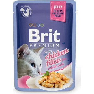 Паучи Brit Premium JELLY with Chicken Fillets for Adult Cats кусочки в желе с куриным филе для взрослых кошек 85г (518463) trendy ripped fringe lace spliced denim shorts
