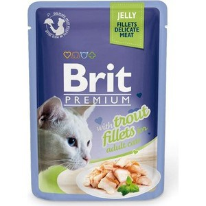 Паучи Brit Premium JELLY with Trout Fillets for Adult Cats кусочки в желе с филе форели для взрослых кошек 85г (518494) 23 inch green mahogany ukulele hawaiian guitar uke for beginner adult with bag strap tuner strings picks