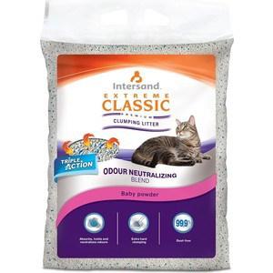 Наполнитель Intersand Extreme Classic Baby Powder Premium Clumping Litter комкующийся с ароматом детской присыпки для кошек 15кг (Л16015)