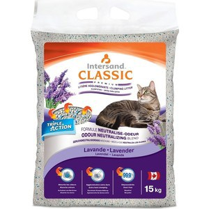 Наполнитель Intersand Extreme Classic Lavender Premium Clumping Litter комкующийся с ароматом лаванды для кошек 15кг (Л20315)