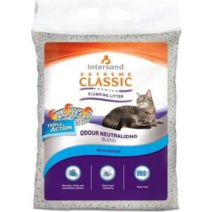 Наполнитель Intersand Extreme Classic Unscented Premium Clumping Litter комкующийся без ароматизатора для кошек 7кг (Л16207)